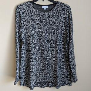J. Jill | Super Soft Botanical Print Sweater
